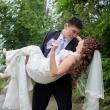 Яркая свадебная фотосессия в Ботаническом саду