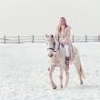 Фотосессия Ольги с лошадьми