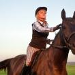 Наездница. Осенняя фотосессия с лошадью