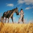 Осенняя фотосессия с лошадью в Иркутске