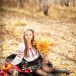 Фото в украинских  нарядах. Осенняя фотосессия