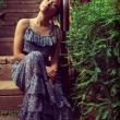 Фото девушки в саду. Иркутск