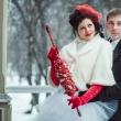 Зимняя фотосессия на свадьбе в Иркутске