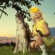 Фотосессия на природе с собакой